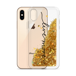 Live More Cursive Liquid Glitter Phone Case