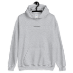 Live More Cursive Embroidered Unisex Hoodie - Live More