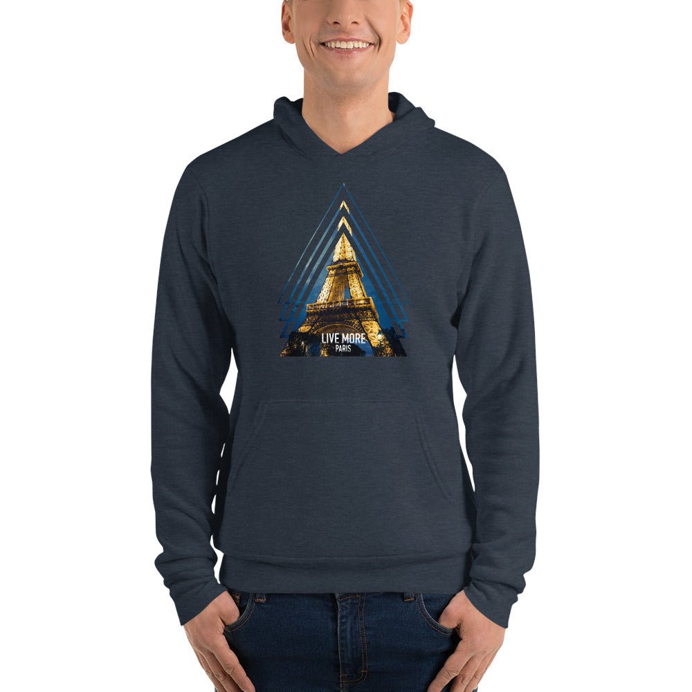 Live More Eiffel Tower Fleece Hoodie