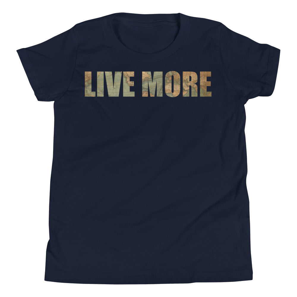 Youth Live More Map Short Sleeve T-Shirt - Live More
