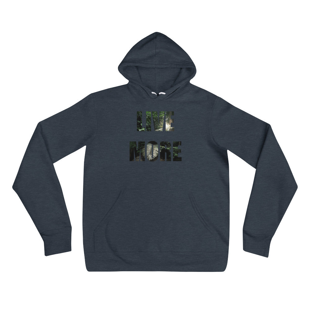 Unisex Live More Jungle Fleece hoodie - Live More