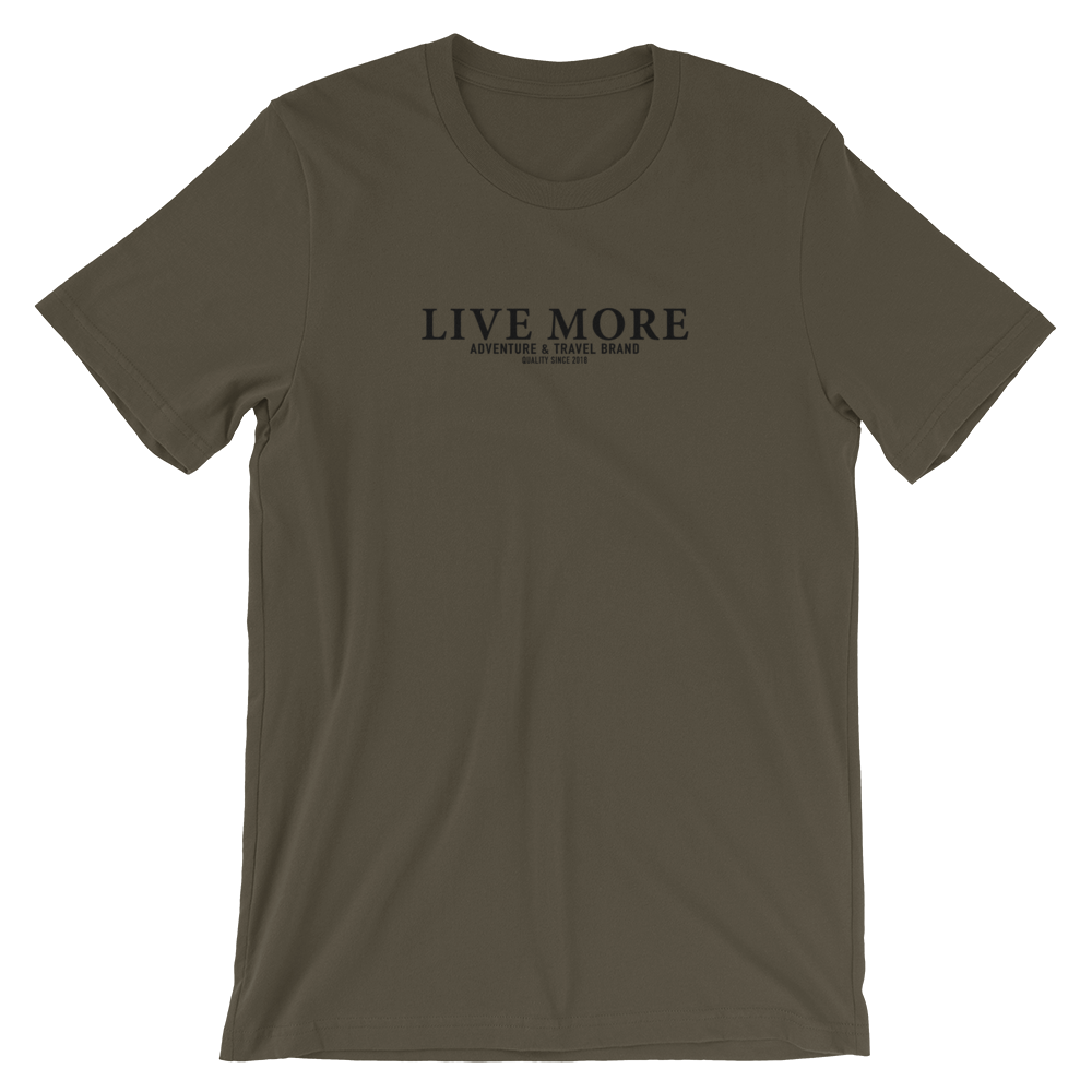 Live More Brand Short-Sleeve Unisex Tee - Live More