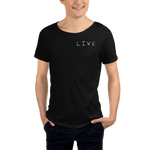 """LIVE"" Raw Neck Tee - Live More"