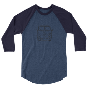 Live More Travel Bus 3/4 sleeve raglan shirt