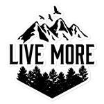 Live More Mountains Stickers