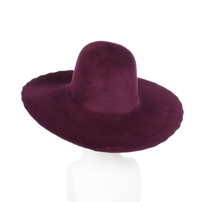 Millinery Supplies UK Plum Velour Peachbloom Capeline