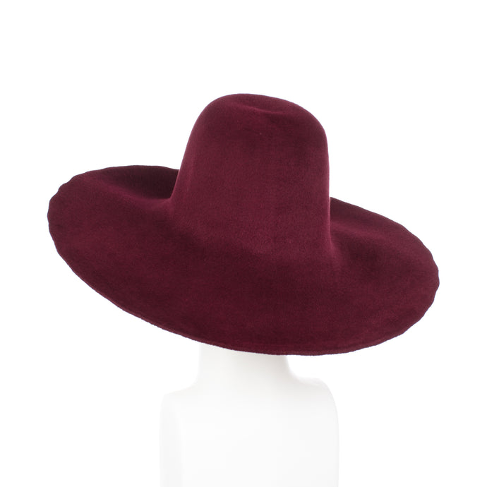 Millinery Supplies UK Ruby Red Velour Peachbloom Capeline