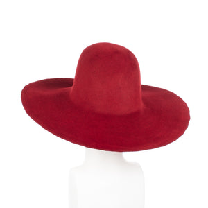 Millinery Supplies UK Cardinal Velour Peachbloom Capeline