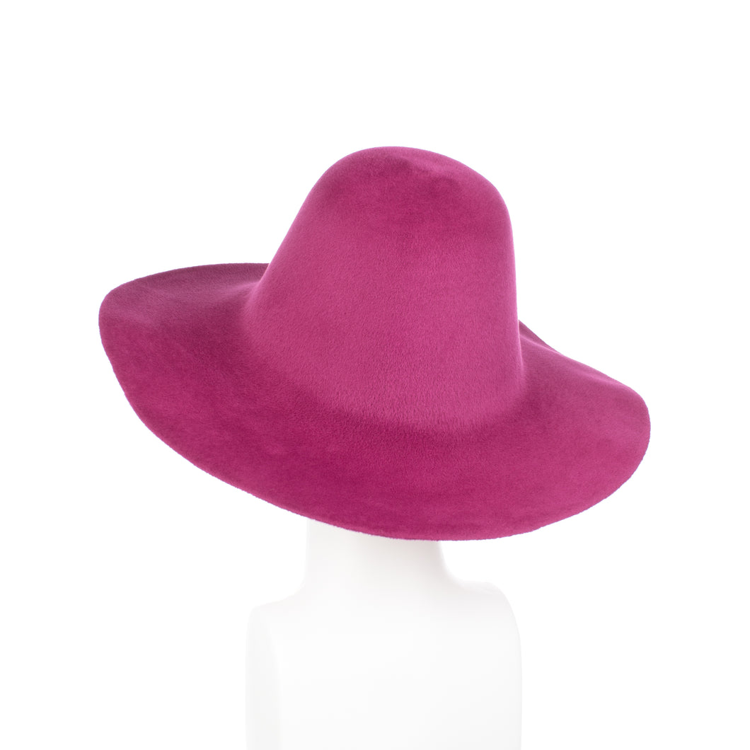 Millinery Supplies UK Magenta Velour Peachbloom Flare