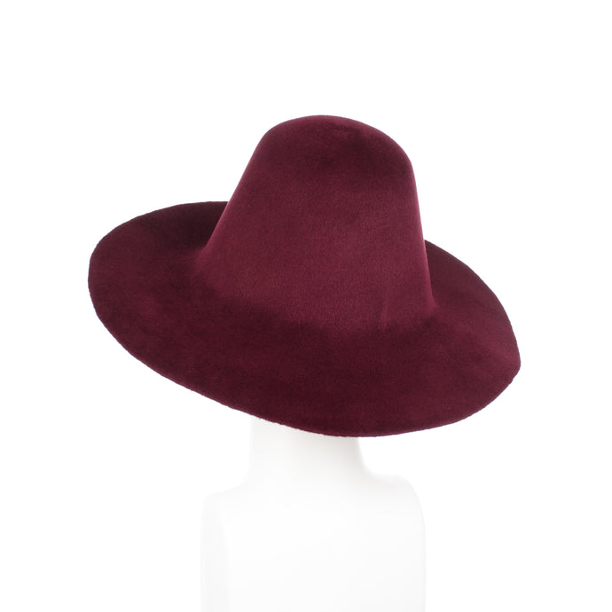 Millinery Supplies UK Ruby Red Velour Peachbloom Flare