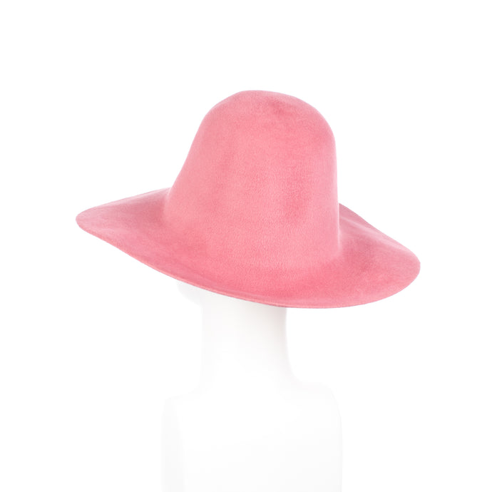 Millinery Supplies UK Old Rose Velour Peachbloom Flare