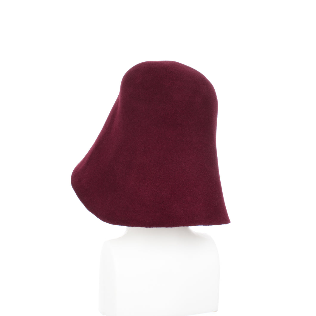 Millinery Supplies UK Ruby Red Velour Peachbloom Hood