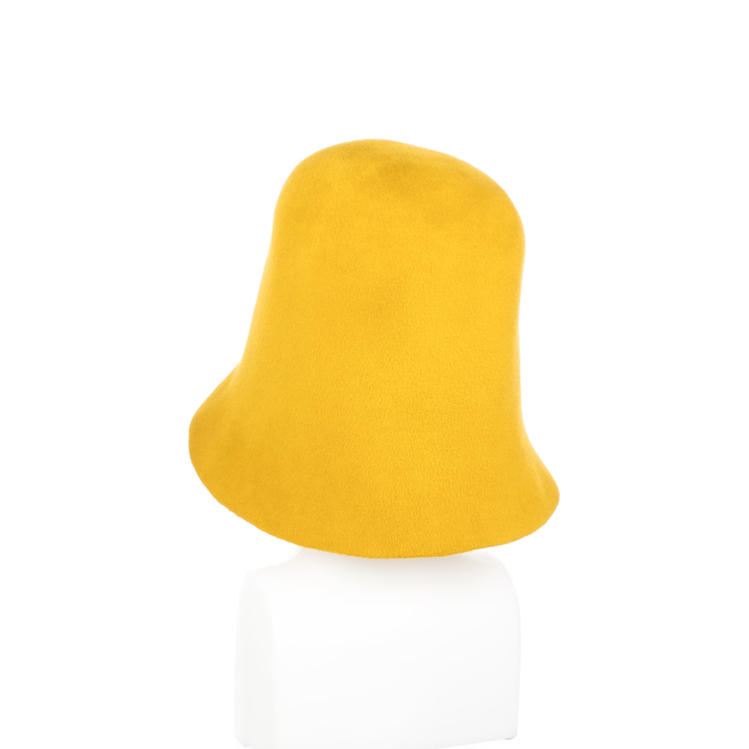 Millinery Supplies UK Mustard Velour Peachbloom Hood