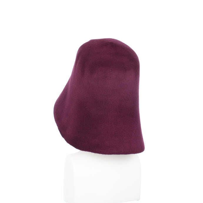 Millinery Supplies UK Plum Velour Peachbloom Hood