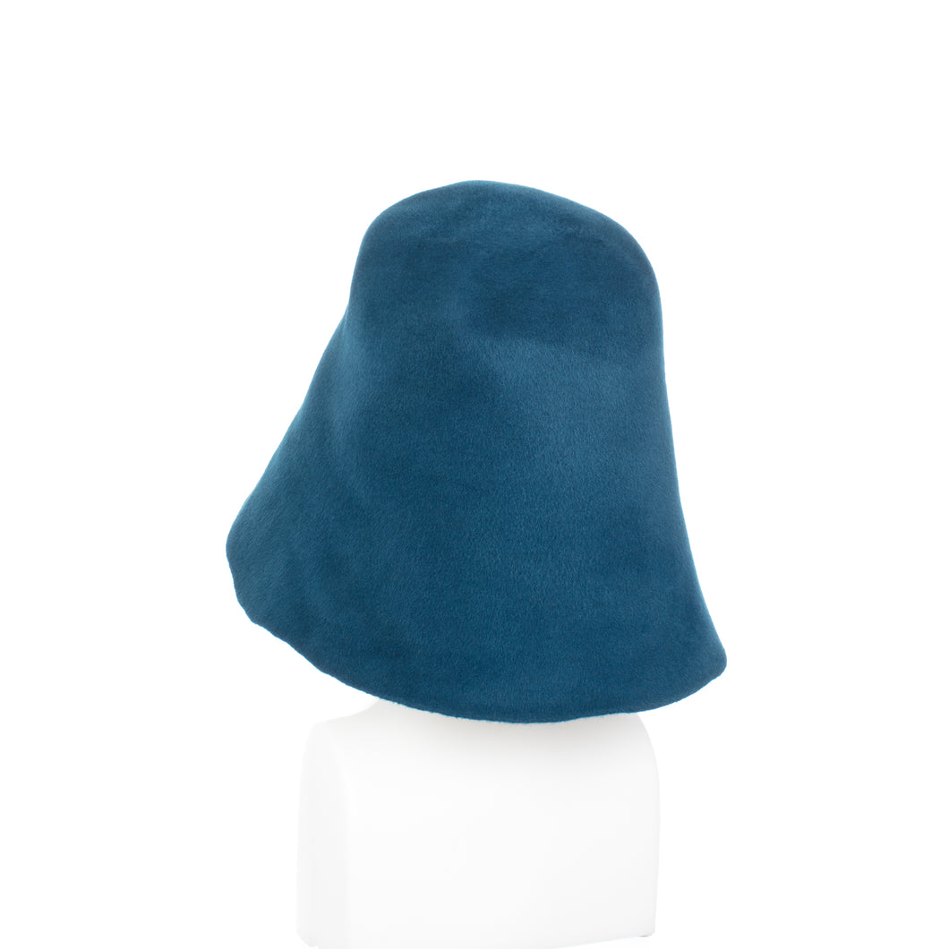 Millinery Supplies UK Teal Velour Peachbloom Hood
