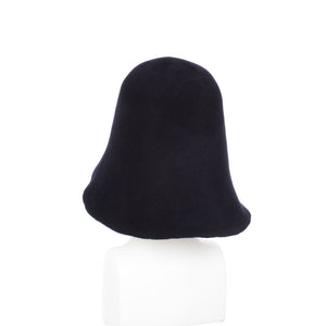 Millinery Supplies UK Dark Navy Velour Peachbloom Hood