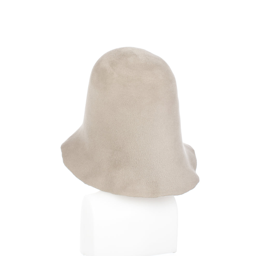 Millinery Supplies UK Light Grey Velour Peachbloom Hood
