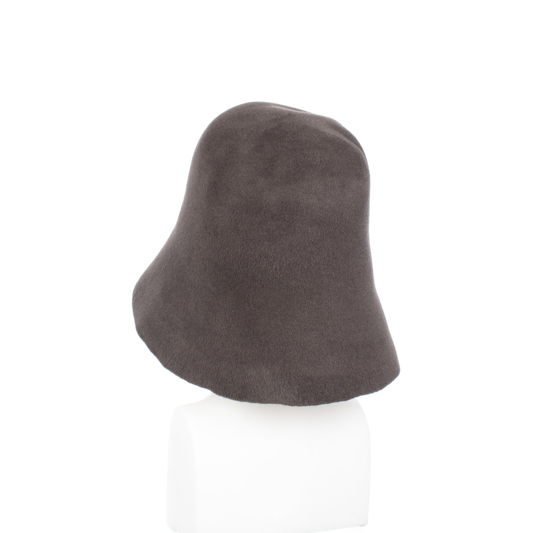 Millinery Supplies UK Dark Grey Velour Peachbloom Hood