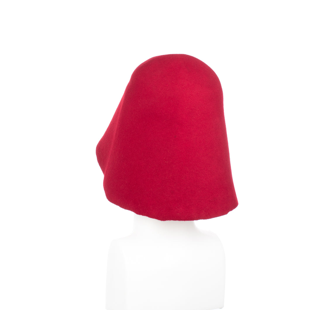 Millinery Supplies UK Red 90g Wool Felt Hood