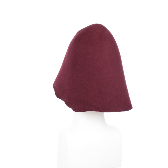 Millinery Supplies UK Burgundy 90g Wool Felt Hood
