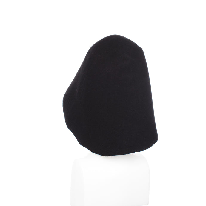 Black 90g Wool Felt Hood Millinery Supplies UK