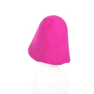 Millinery Supplies UK Fuschia 90g Wool Felt Hood