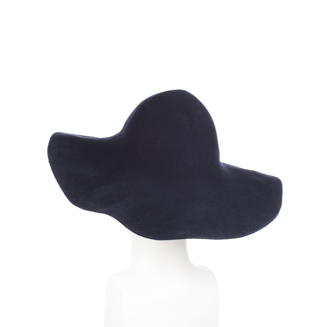 Millinery Supplies UK Black 120g Wool Felt Capeline