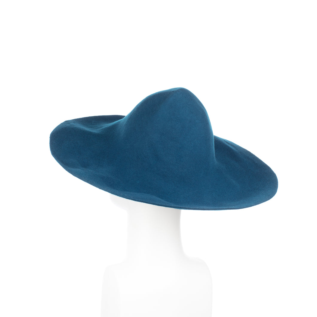 Millinery Supplies UK Teal 120g Wool Felt Capeline