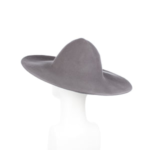 Millinery Supplies UK Dark Grey 120g Wool Felt Capeline