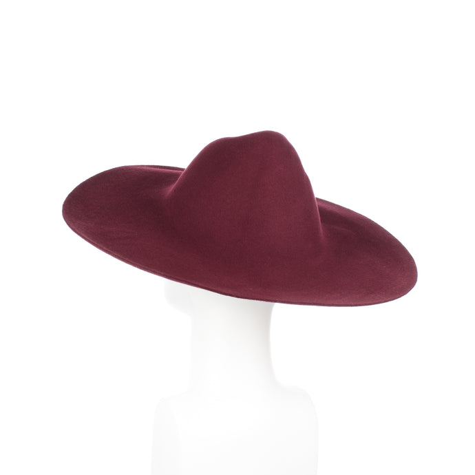 Millinery Supplies UK Burgundy 120g Wool Felt Capeline