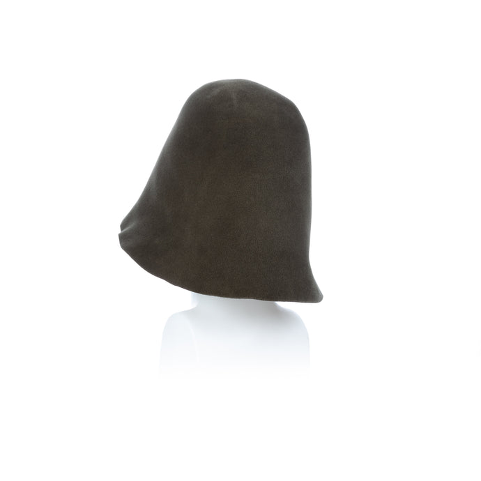 Millinery Supplies UK Military Green Velour Peachbloom Hood