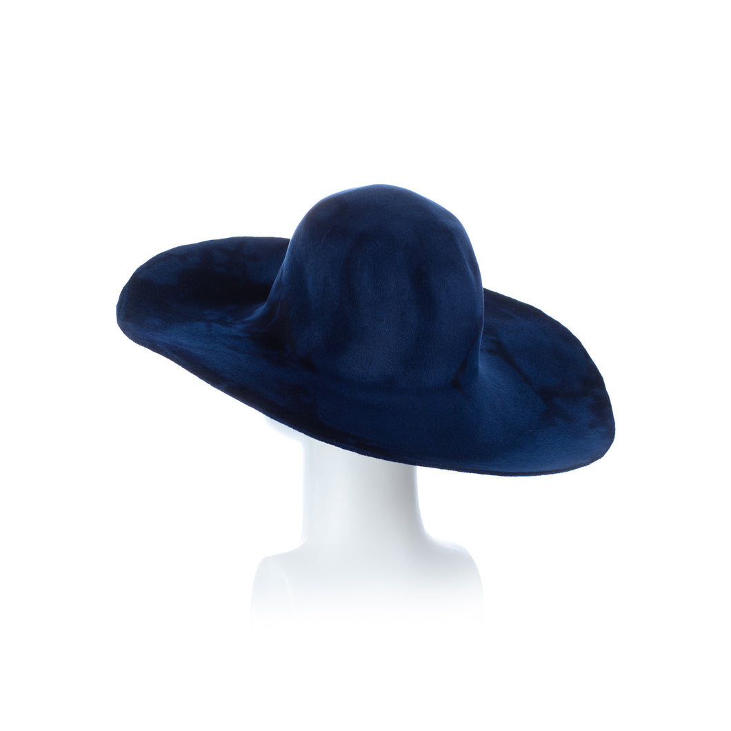 Millinery Supplies UK French Blue and Midnight Peachbloom Capeline