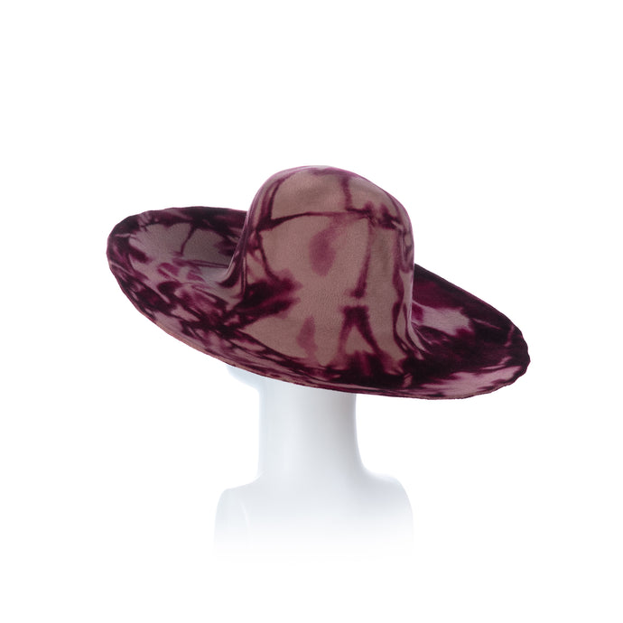 Millinery Supplies UK Fawn and Ruby Red Peachbloom Capeline