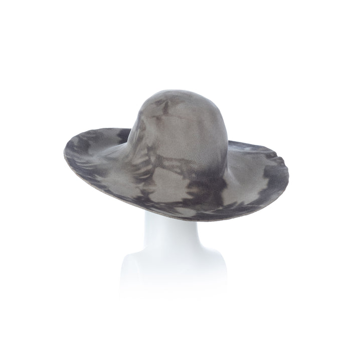 Millinery Supplies UK Light Grey and Dark Grey Peachbloom Capeline