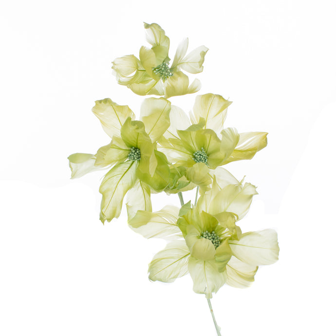 Millinery Supplies UK Lime Magnolia Feather Flower
