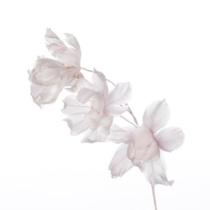 Millinery Supplies UK Heather Magnolia Feather Flower