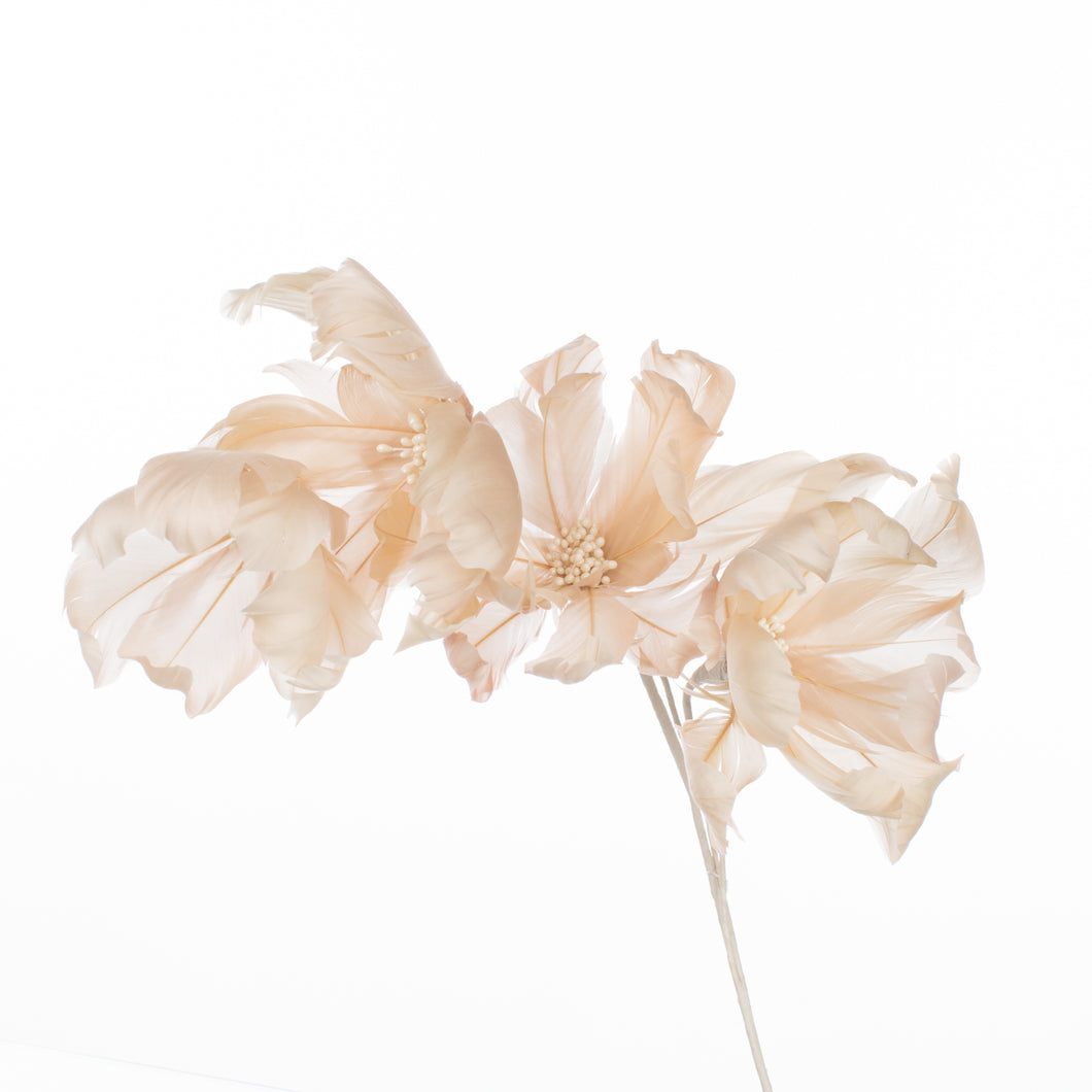 Millinery Supplies UK Gazelle Magnolia Feather Flower