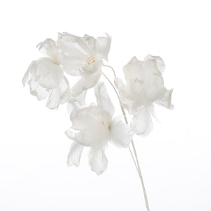 Millinery Supplies UK Ivory Magnolia Feather Flower