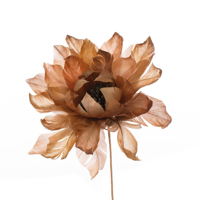 Millinery Supplies UK Sandstone Feather Dahlia