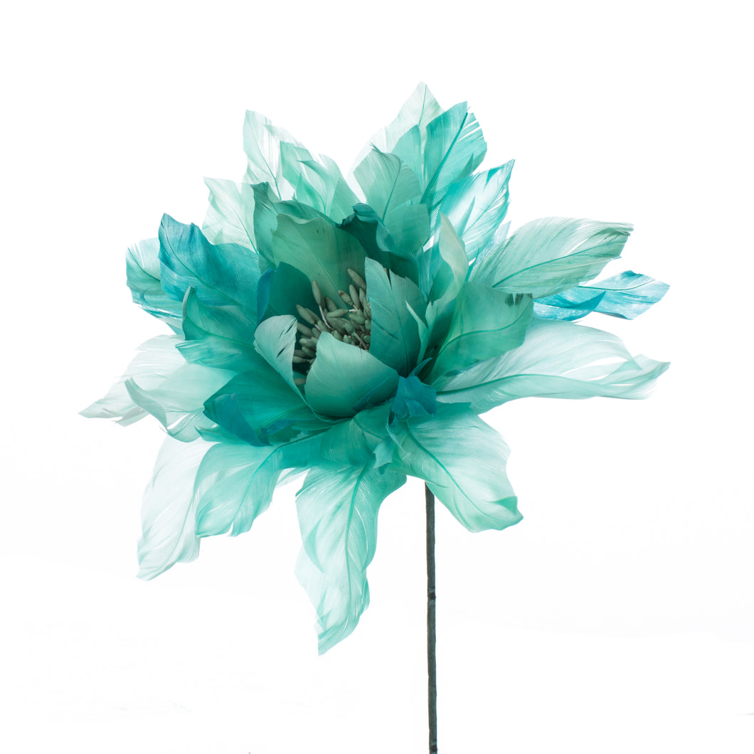 Millinery Supplies UK Jade Feather Dahlia