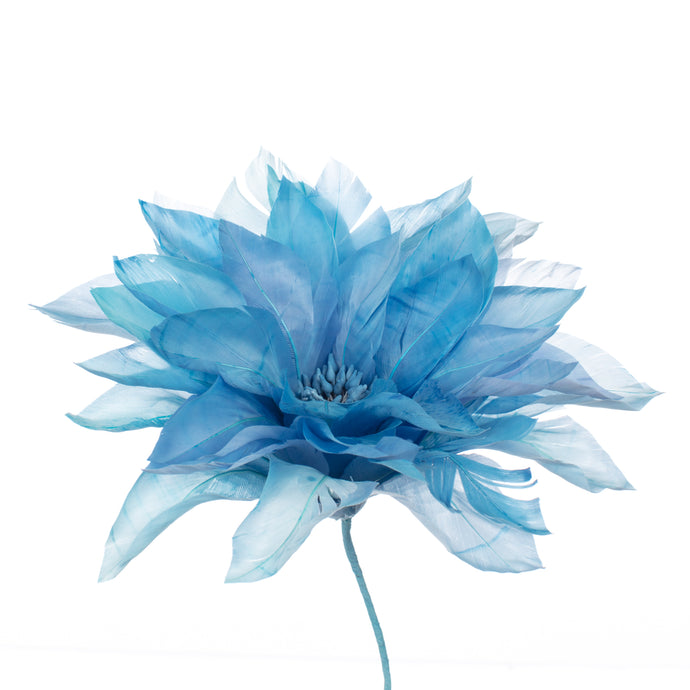 Millinery Supplies UK Corn Blue Feather Dahlia