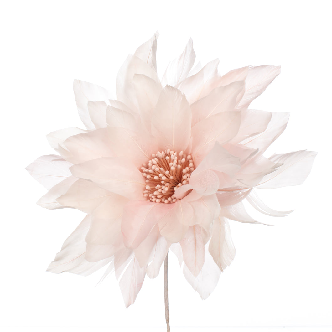 Millinery Supplies UK Pink Feather Dahlia