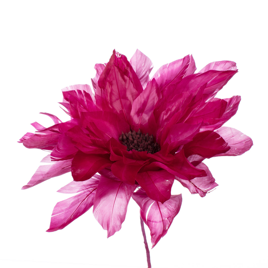 Millinery Supplies UK Flieder Feather Dahlia
