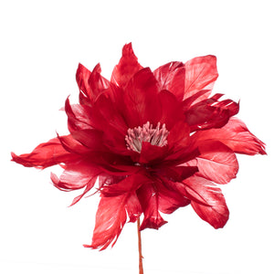 Millinery Supplies UK Red Feather Dahlia