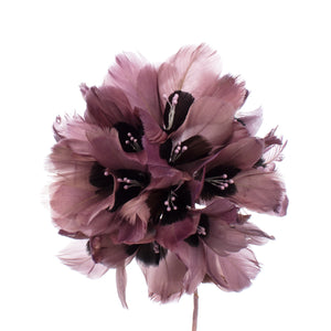 Millinery Supplies UK Dove / Grape Feather Hydrangea