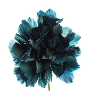 Millinery Supplies UK Teal Feather Hydrangea