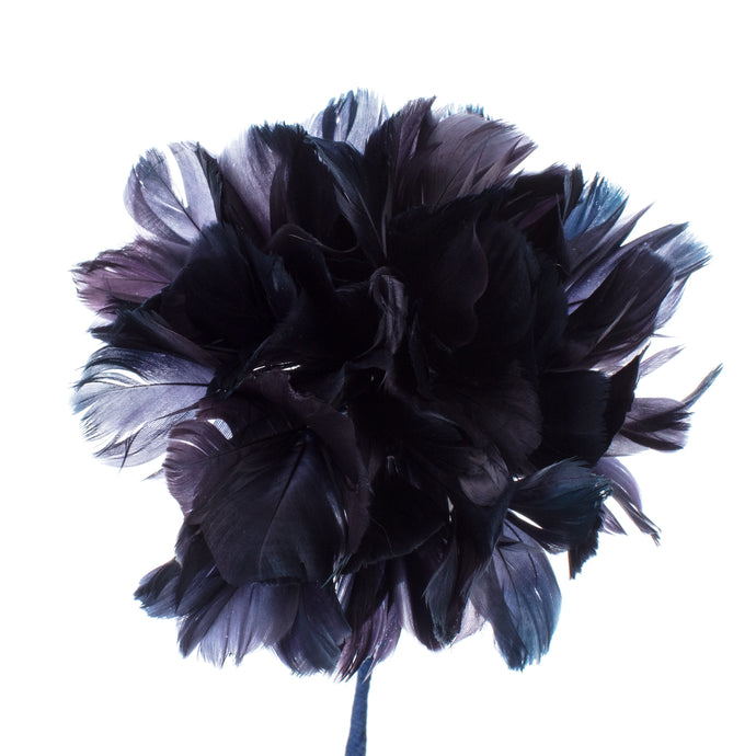 Millinery Supplies UK French Blue Feather Hydrangea