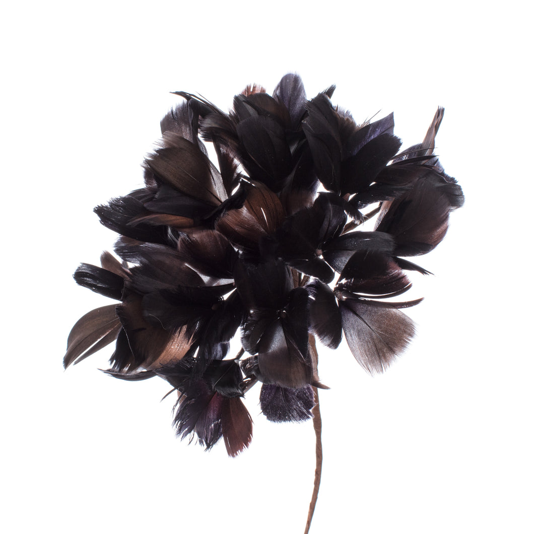 Millinery Supplies UK Chocolate Feather Hydrangea