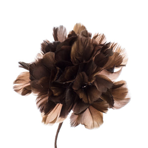 Millinery Supplies UK Coffee Feather Hydrangea