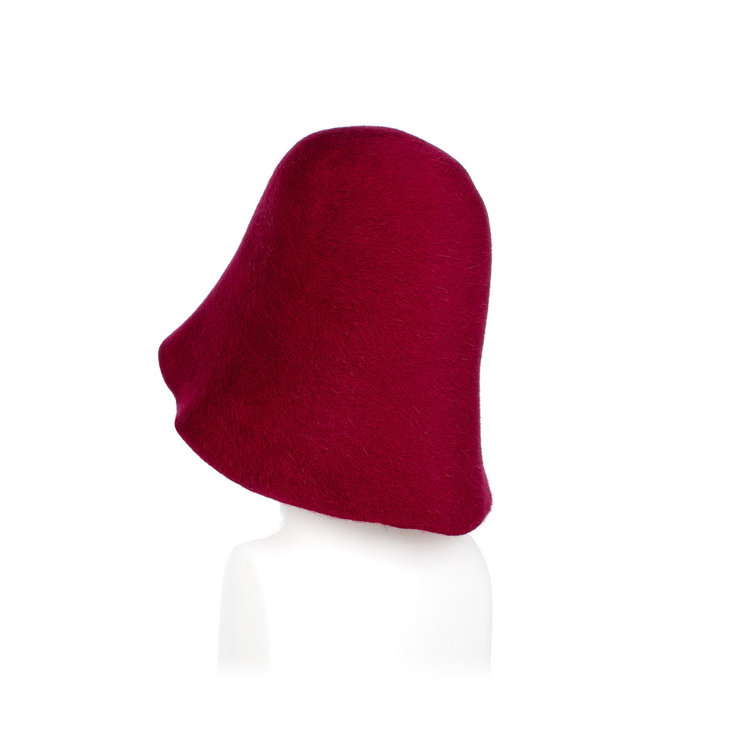 Millinery Supplies UK Wine Fur Felt Hood